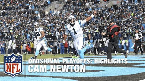 cam newton highlights divisional playoffs seahawks