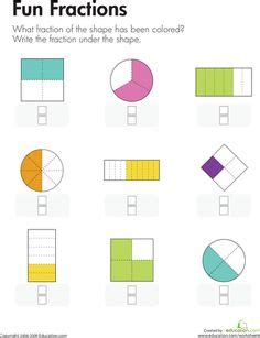 Identify Fractions Worksheet  1000 Images About What S New On Pinterest Fractions Worksheets