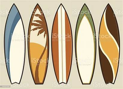 Surfboard Vector Retro Surfboards Beach Illustrations Illustration