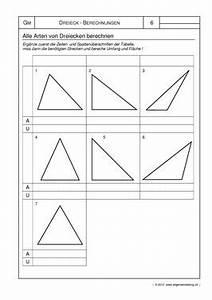 Dreieck Umfang Berechnen : mathematik geometrie arbeitsblatt fl che umfang von dreiecken 8500 bungen ~ Themetempest.com Abrechnung