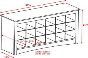 Standard Kitchen Cabinet Drawer Depth by Prepac Sonoma Black Shoe Storage Cubbie Bench Beyond Stores