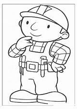 Builder Bob Coloring Colouring A4 sketch template