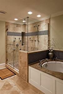Salle De Bain En L : 1001 id es d co pour la salle de bain travertin ~ Melissatoandfro.com Idées de Décoration