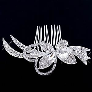 Shine Bride Diamond Hair Comb Prom Party Fancy Wedding