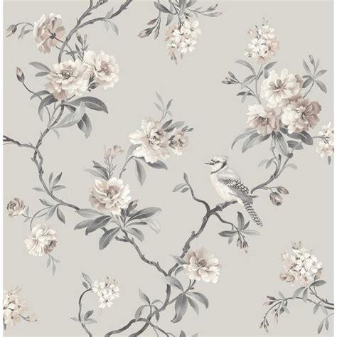 fine decor  sq ft chinoiserie stone floral wallpaper