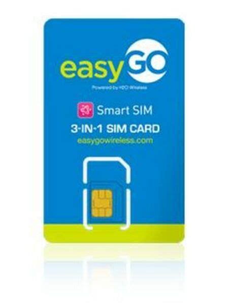 Easygo Triple SIM Card (mini Micro Nano) AT&T Prepaid ...