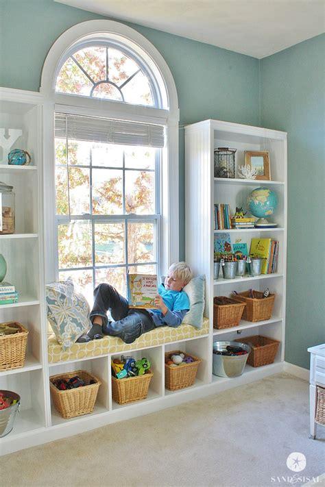Diy Builtin Bookshelves + Window Seat  Sand And Sisal