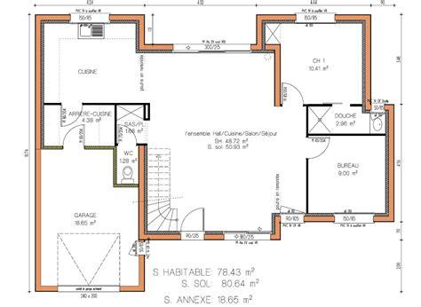 plan maison 5 chambres plain pied gratuit simple les de maisons en projet en loire atlantique plan