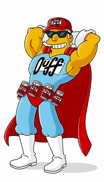 Duffman Simpsons Characters Beer Duff Fxx Character
