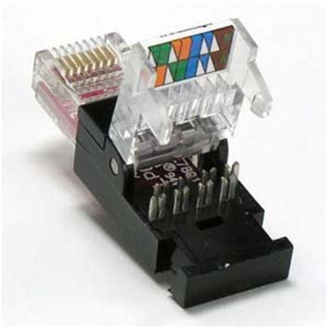 inbouw jack aansluiting installerparts rj45 cat 6 utp toolless plug