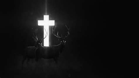 Cross Dark Deer Fantasy Art Digital Art Wallpapers Hd