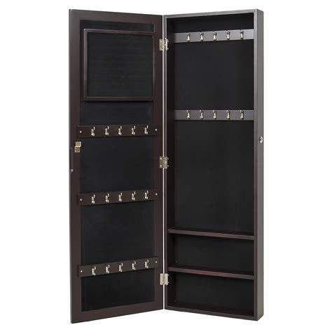 mirrored jewelry cabinet armoire organizer mirrored jewelry cabinet armoire wall mount organizer