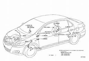 Toyota Yaris Abs Wheel Speed Sensor Wiring Harness  Right