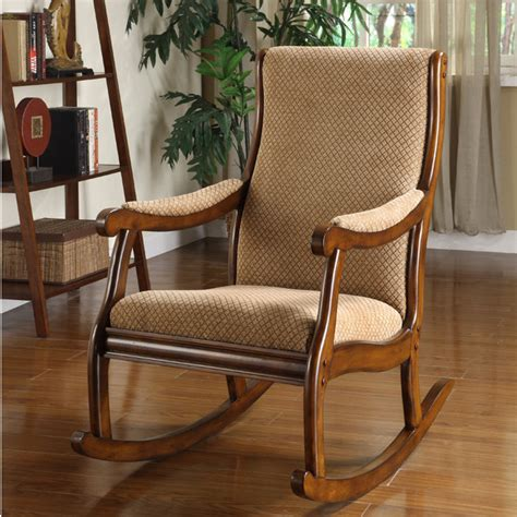 collection of cushioned rocking chairs