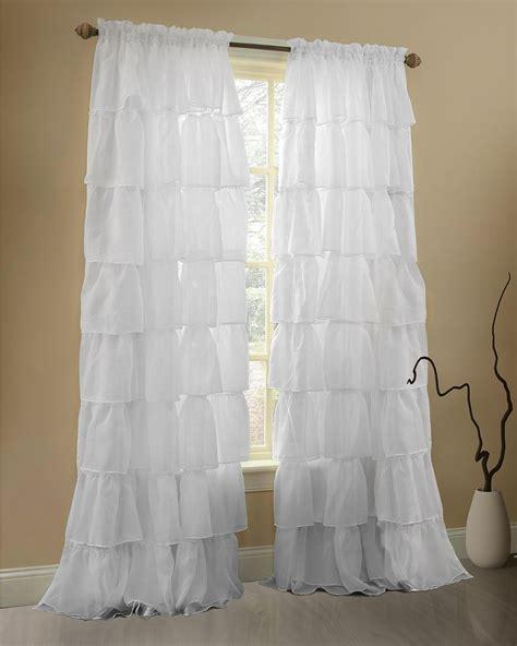 gee di moda ruffle curtains rod pocket window curtains