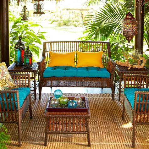 Tropical porch outdoor furniture