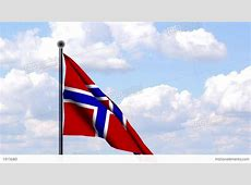 Animated Flag Of Norway Norwegen Stock Animation 1915680