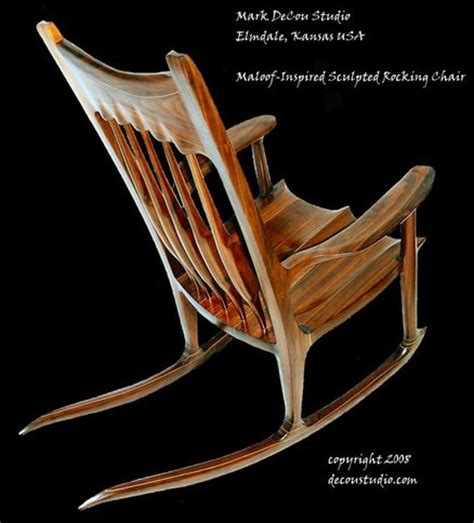 Maloof Rocking Chair Kit by Rocking Chair Plans Maloof Woodideas