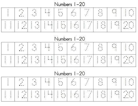 tracing numbers free loving printable