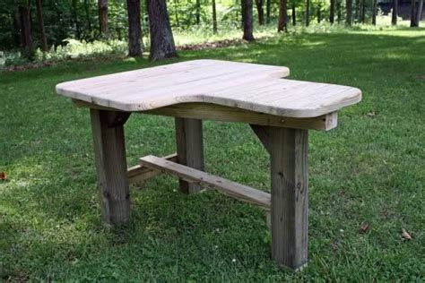 wood shooting bench plans heavy duty easy