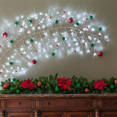 white climbing vine lighted branches  cool white led