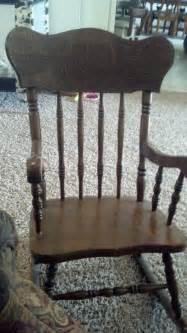 reduced rocking chair wood vintage walnut antique