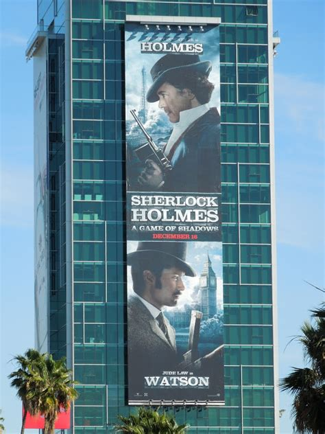 sherlock holmes movie duo shadows game giant snapped detective handsome vine sunset hollywood january profile billboards