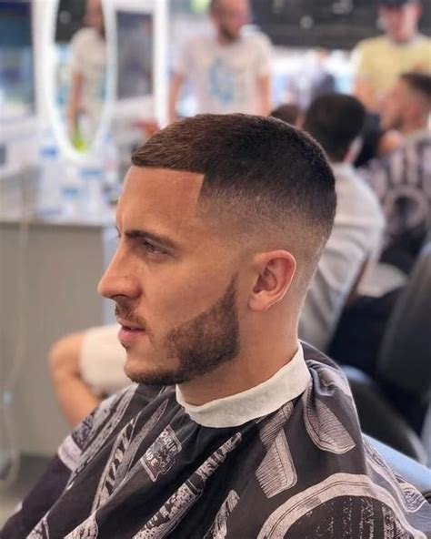eden hazard haircut  fadehair