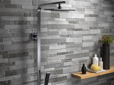 grey and yellow area effect porcelain stoneware wall covering cubics