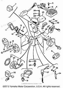 Yamaha Motorcycle 1980 Oem Parts Diagram For Electrical