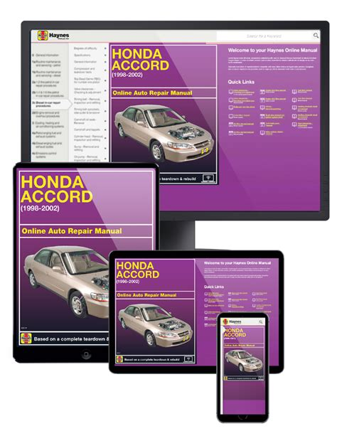 free service manuals online 2002 acura cl engine control honda accord online service manual 1998 2002