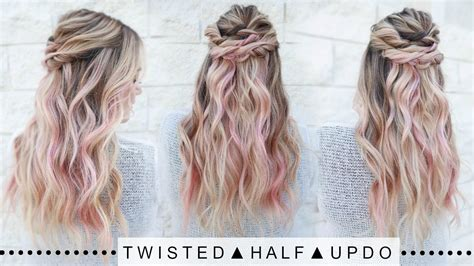 Twisted Half Updo Hairstyle