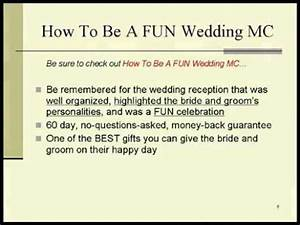 memorable wedding how to be a fun wedding mc youtube With wedding ceremony script funny