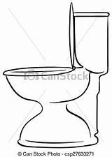 Clip Toilet sketch template