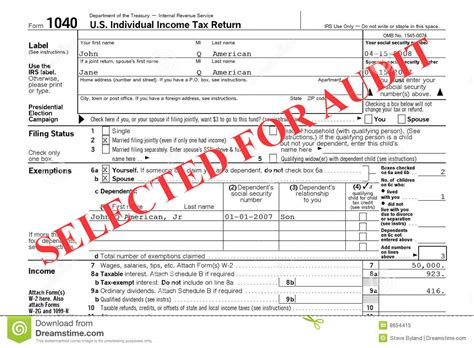 federal tax return audit royalty free image