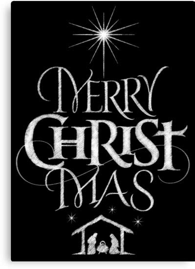quot merry christmas religious christian calligraphy mas chalkboard jesus nativity quot canvas