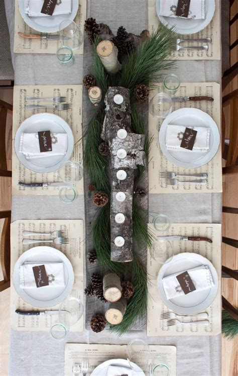 natural christmas table decor ideas