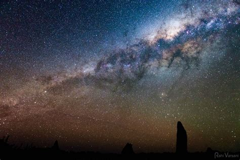 The Stunning View Milky Way From Nambung National