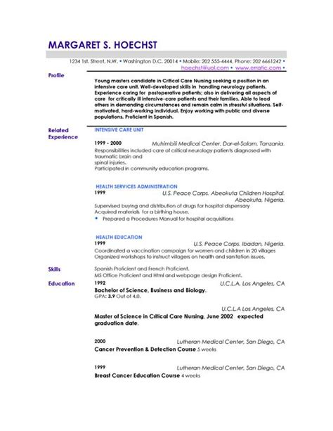 student resume profile statement exles costa sol real