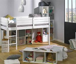 Kinder Matratze 90x190 : kinder halb hochbett paraiso aus massivholz mit matratze ~ Frokenaadalensverden.com Haus und Dekorationen