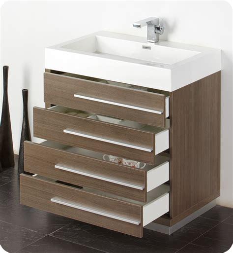 oak bathroom vanity cabinets fresca livello 30 quot gray oak modern bathroom vanity