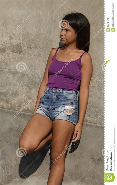 Thin Slender Teen Girl Stock Image Image Of Adolescent