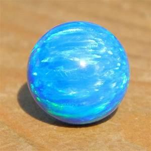 8mm Light Blue Opal  Blue