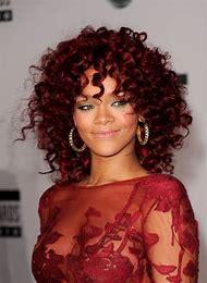 Rihanna Red Curly Hair
