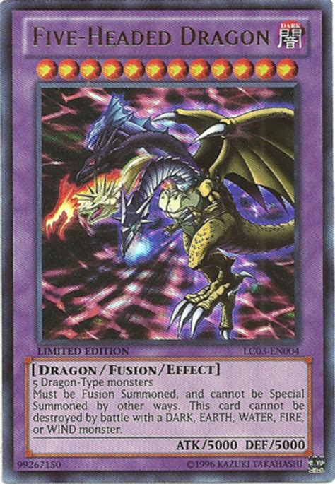 five headed dragon lc03 en004 ultra rare limited