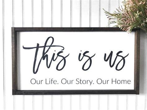 Our unframed art collection features high definition canvas prints and artwork available for purchase at a fraction of their value because framing is not included. This Is Us Our Life Our Story Our Home | Painted Frame | Wood Sign | Farmhouse Sign | Home ...
