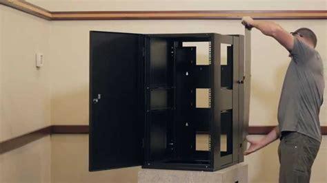 wall mount server cabinet emcor guardian wall mount server racks cabinets youtube