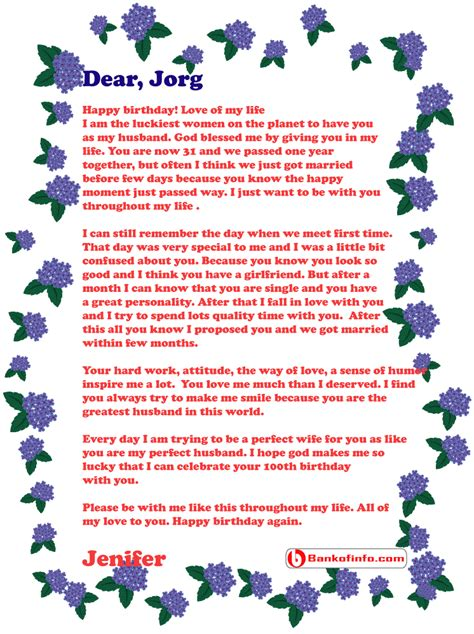 birthday letter   husband letter birthday letters