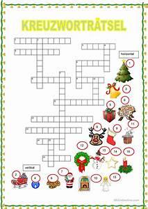 Spiele Für Weihnachten : kreuzwortr tsel weihnachten arbeitsblatt kostenlose daf arbeitsbl tter ~ Frokenaadalensverden.com Haus und Dekorationen