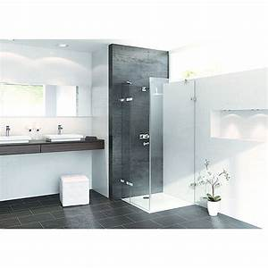 Porte et parois en verre sans cadre pour douche enjoy for Parois vitrées pour douche sans porte